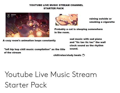 YOUTUBE LIVE MUSIC STREAM CHANNEL STARTER PACK Requiem Aso