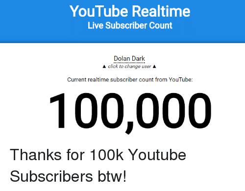 Click Dank And Live Youtube Realtime Live Subscriber Count Dolan Dark A Click