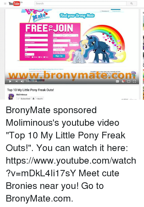 youtube search mind your brony mate free join sign up top 10 my
