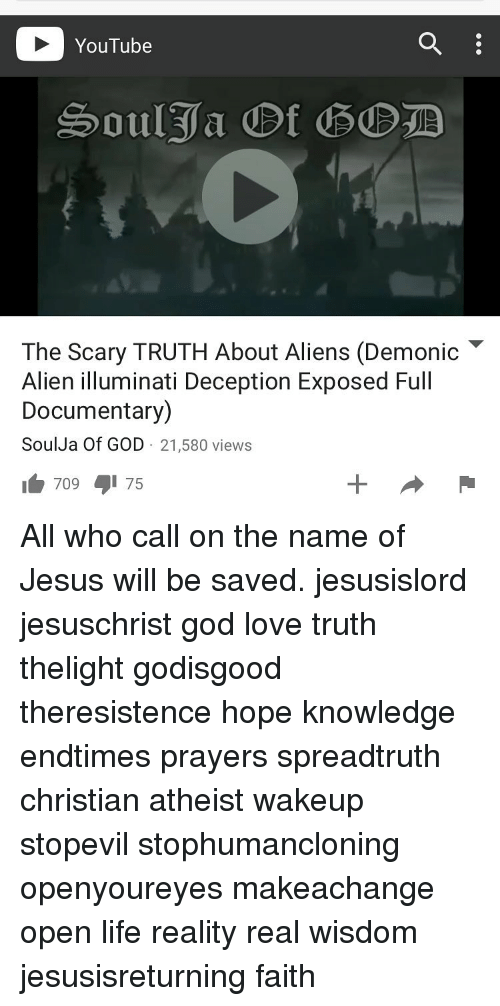 YouTube the Scary TRUTH About Aliens Demonic Alien
