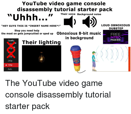 YouTube Video Game Console Disassembly Tutorial Starter Pack