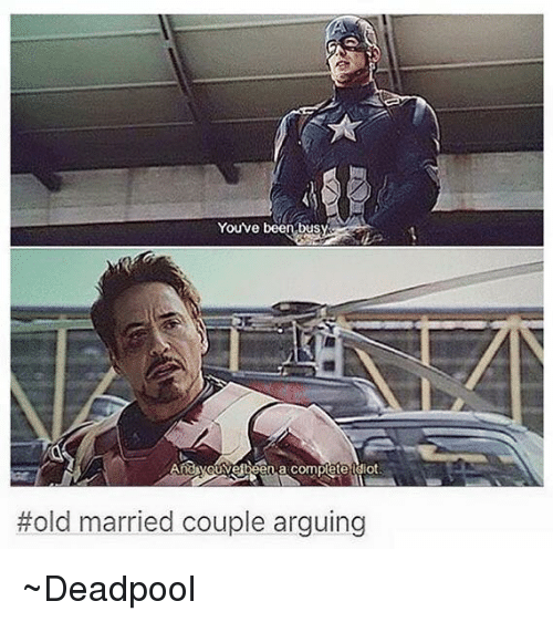 youve been bus hold married couple arguing ~deadpool 2915746 youve been bus hold married couple arguing ~deadpool arguing