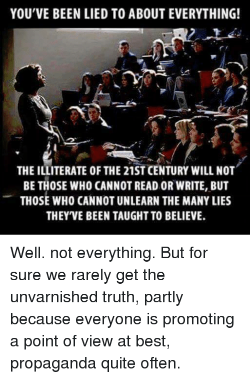 the unvarnished truth