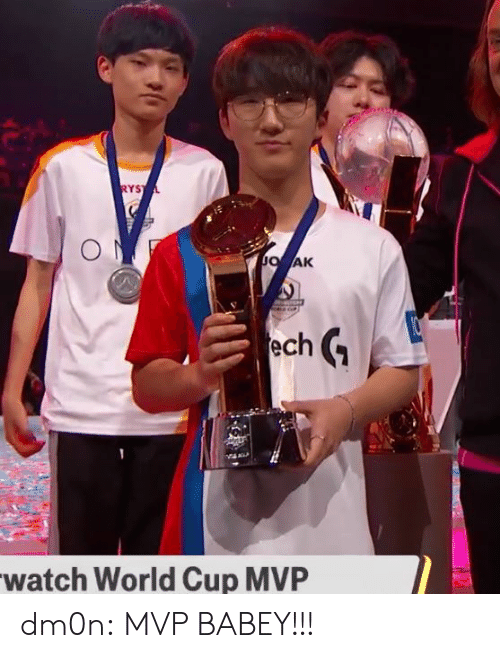 Tumblr, World Cup, and Blog: YS  AK  ech  watch World Cup MVP dm0n:  MVP BABEY!!!