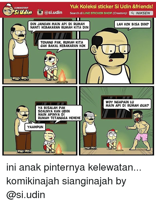 Friends gg and memes yuk koleksi sticker si udin friends komikstrip gg