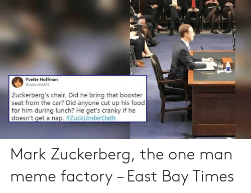 Yvette Hoffman Gradiochick841 Zuckerberg's Chair Did He Bring That