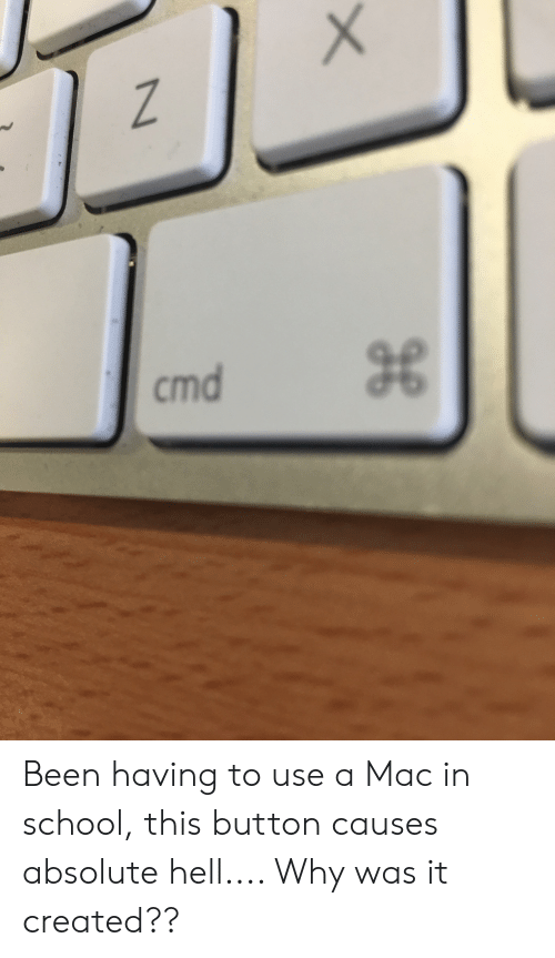 School, Hell, and Been: Z  cmd Been having to use a Mac in school, this button causes absolute hell.... Why was it created??