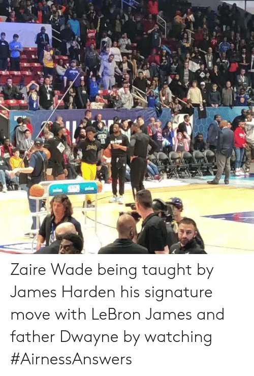 Zaire Wade Being Taught by James Harden His Signature Move