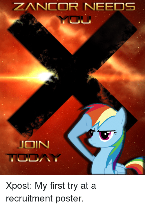 zancor needs join xpost my first try at a recruitment poster