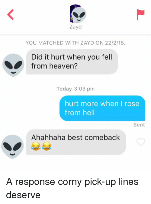 funny pick up lines and comebacks