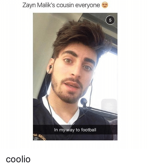 Coolio, Zayn Malik, and Girl Memes: Zayn Malik's cousin everyone  In my way to football coolio