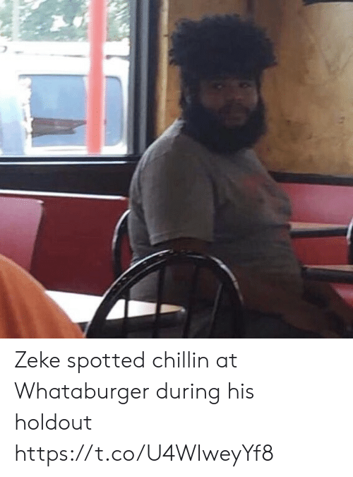 Football, Nfl, and Sports: Zeke spotted chillin at Whataburger during his holdout https://t.co/U4WIweyYf8