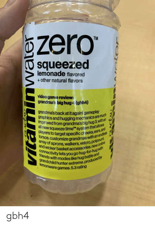 Zero Tm Squeezed Lemonade Flavored Other Natural Flavors