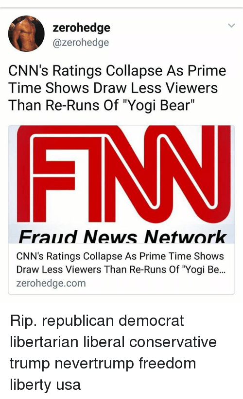 Zerohedge CNN's Ratings Collapse as Prime Time Shows Draw Less