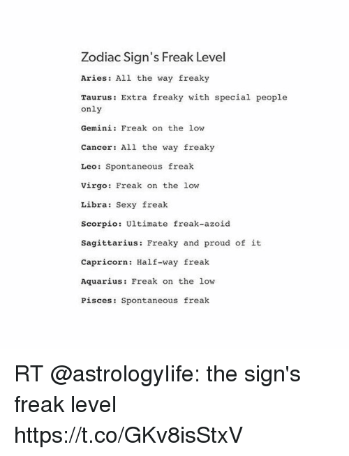 Astrology signs and sexuality