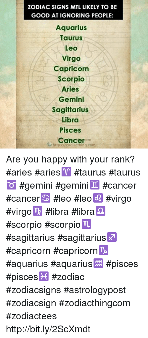 ZODIAC SIGNS MTL LIKELY TO BE GOOD AT IGNORING PEOPLE Aquarius
