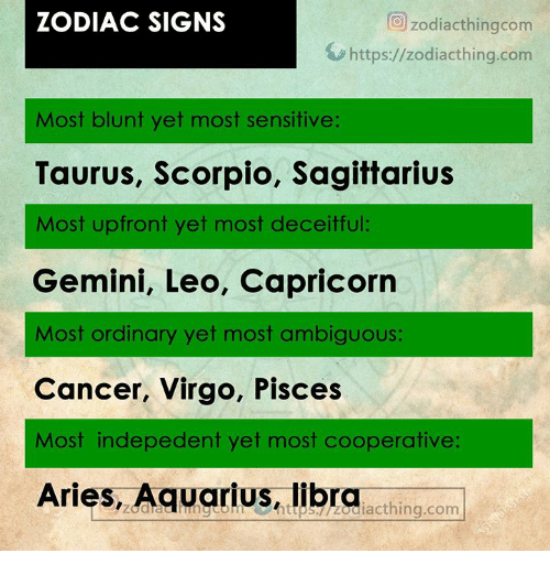 ZODIAC SIGNS O Zodiacthingcom Httpszodiacthingcom Most Blunt Yet