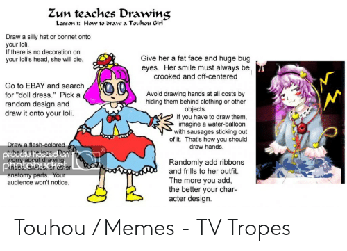 Zun Teaches Drawing Lesson 1 How to ๖raw a Touhou Girl Draw