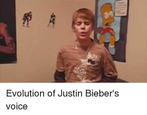Evolution Of Justin Bieber